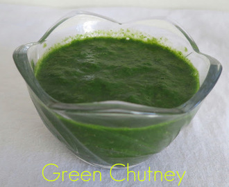 Green chutney for chaat (Mint Coriander Chutney)