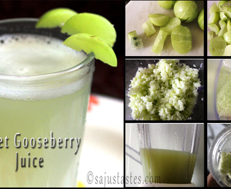 Sweet Gooseberry Juice/ Nellikka(Amla) Juice