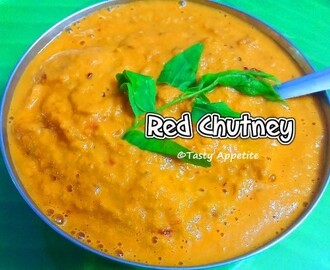 Red Chutney / Chettinad Style Kara Chutney - Easy Video Recipe