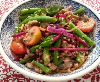 Asian Pork with Kaffir Lime and Crunchy Green Beans