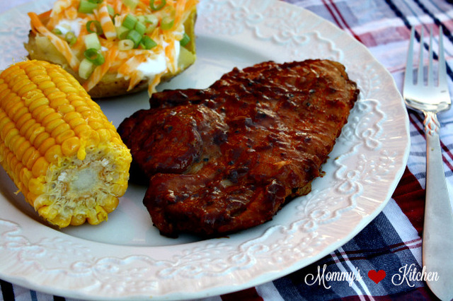 Oven Baked Baked Barbecue Pork Chops