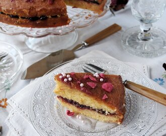 Scheherazade and Tea Time Treats: Cardamom Rose Cake with Orange Drizzle Recipe