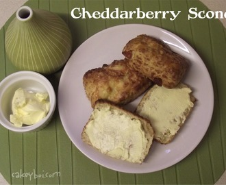 Cheddarberry Scones