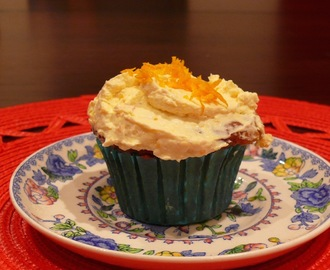 Mother's Day Treat Orange Cupcakes, Grain & Gluten Free Gifts to Bake with Love