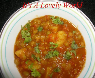 Dry Peas and Potato Curry