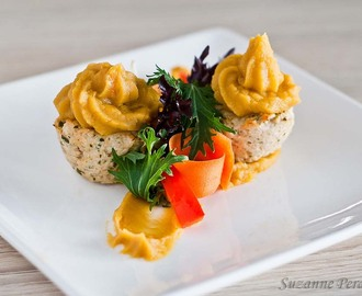 Chicken Cupcakes with Sweet Potato Topping – Grain and Nut-free