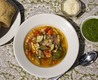 Summer Vegetable Soup: Provencal Vegetable Soup #French Fridays with Dorie