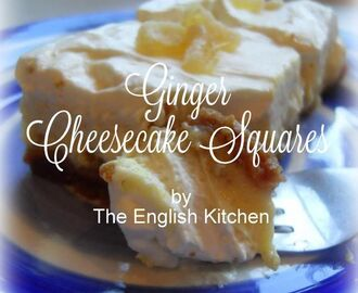 Ginger Cheesecake Squares