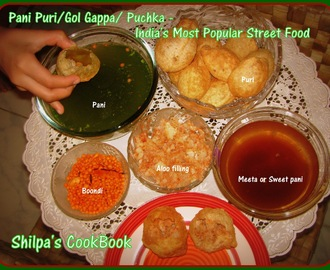 Pani Puri/Gol Gappa/ Puchka - India's Most Popular Street Food