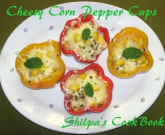 Cheesy Corn Pepper Cups