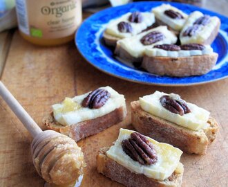 The Secret Recipe Club: Brie and Pecan Canapés Recipe