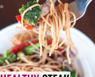 Healthy Steak Stir Fry #CatelliFamilies