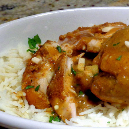 Slow Cooker Curried Chicken Thighs