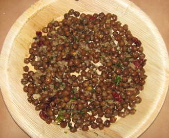 Chane Upkari (Dark Chickpeas Stir fry)