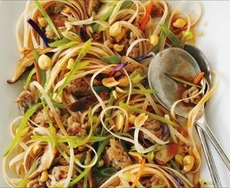 Spicy Pork Noodle Stir-Fry
