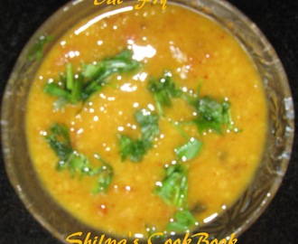 Dal Fry (Seasoned Yellow Lentils - North Indian style)