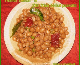 """Peanut Sundal"" or Stir fried boiled peanuts"