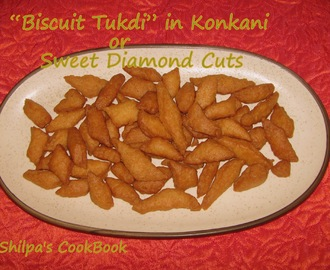 "Sweet Diamond Cuts or ""Biscuit Tukdi"" in Konkani"