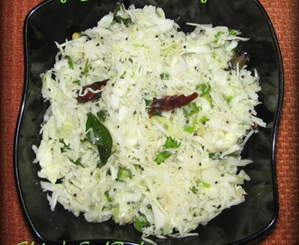 Cabbage Salad or Cabbage Kosambari