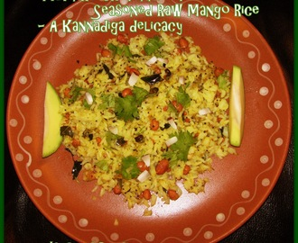 """Mavinkai Chitranna"" or Seasoned Raw Mango Rice - A Kannadiga delicacy"