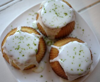 Coconut Cakes with Lime Drizzle