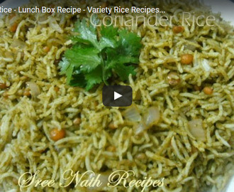 Coriander Rice Recipe Video