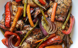 Balsamic chicken with roasted veg