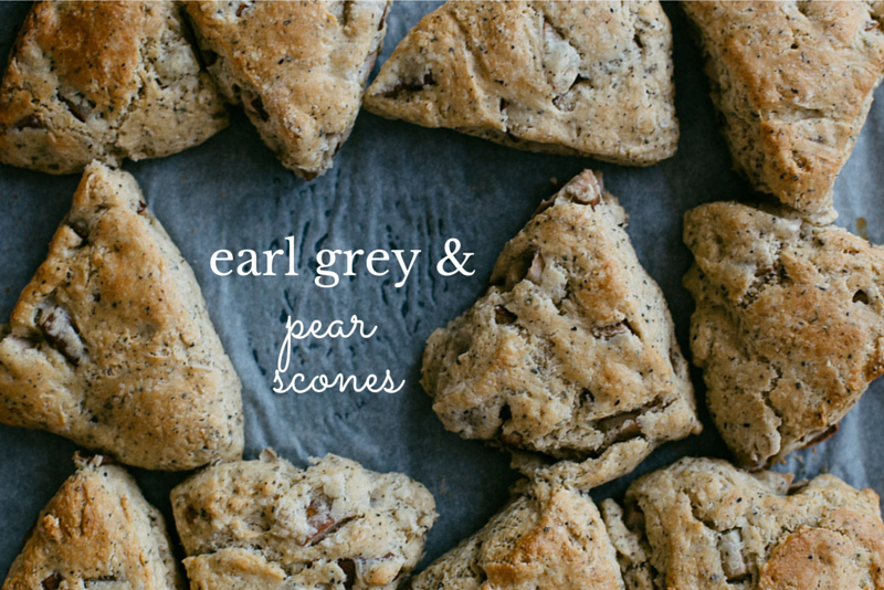 Earl Grey and Pear Scones