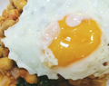 Spinach and Kale with Chickpeas and Fried Egg