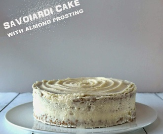 Savoiardi Cake with Almond Frosting