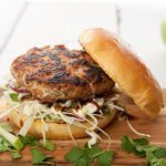 Fennel Seed & Pork Burgers w Apple Slaw