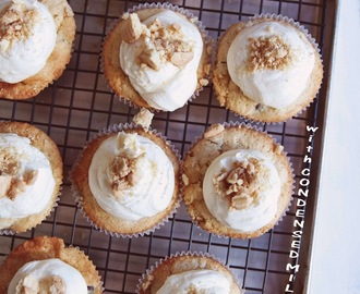 Chocolate Chip Cupcakes with Condensed Milk Frosting