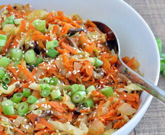Vegan Egg Roll in a Bowl
