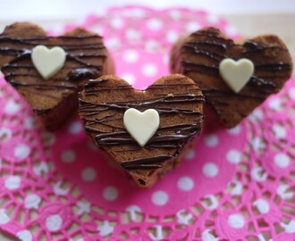 Valentine's Day Bakes: Rolo Caramel and Chocolate Heart Cakes