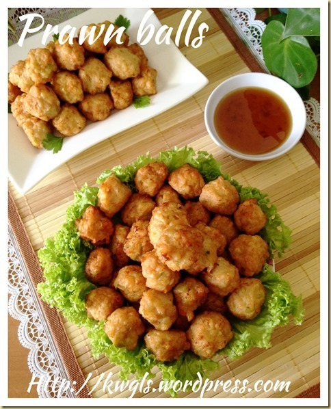 Deep Fried Prawn Balls (干炸虾枣)