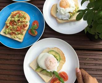 Recipe: Poached egg on avocado toasts