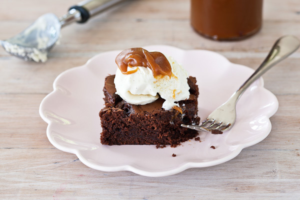 Salted Caramel Chocolate Brownie Dessert
