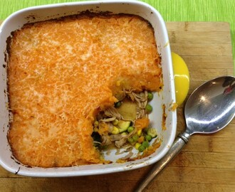 Sweet Potato & Pulled Pork Shepherds Pie – repurposing leftovers