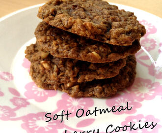Recept: Soft Oatmeal Cranberry Cookies (Subway Style)