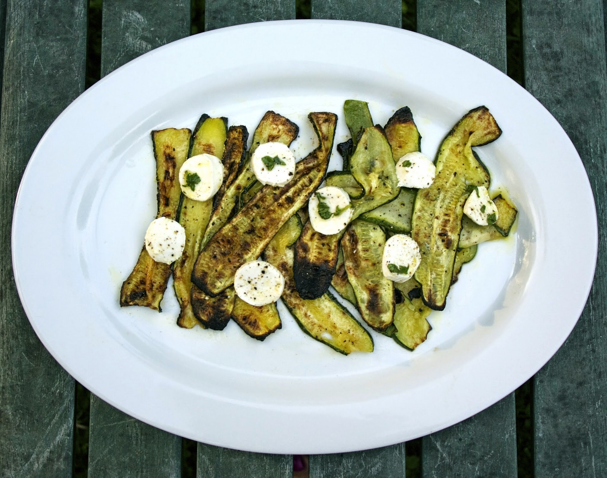 Roasted Zucchini with Mozzarella #River Cottage VEG #Weekly Menu Plan