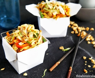 Wok-In-A-Box: Satay Pork Noodle Box