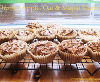 Chunky Apple, Oat & Maple Muffins – Thermomix & regular