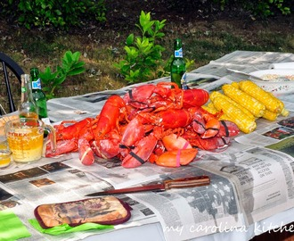 A Surprise Party for my Birthday - a New England Clam & Lobster Boil