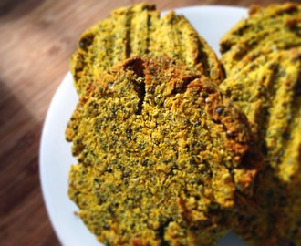 Savoury Curried Chia Cookies