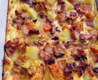Sweet Potato, Bacon and Egg Bake (Dairy Free)