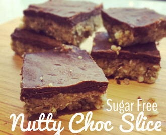 Sugar Free Nutty Chocolate Slice