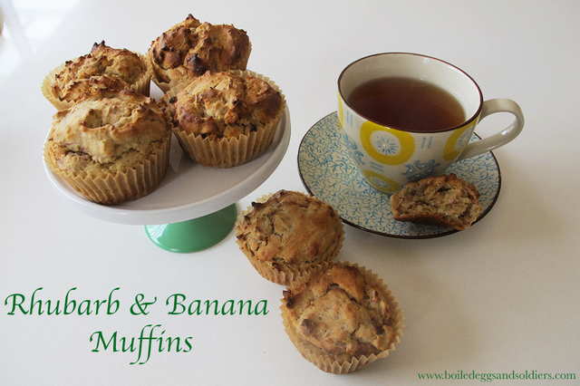 The best Rhubarb & Banana Muffins – Thermomix & Regular recipes