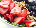 Berry Walnut Spinach Salad with Maple Vinaigrette