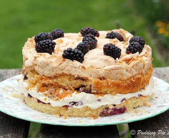 Blackberry & Almond Meringue Cake