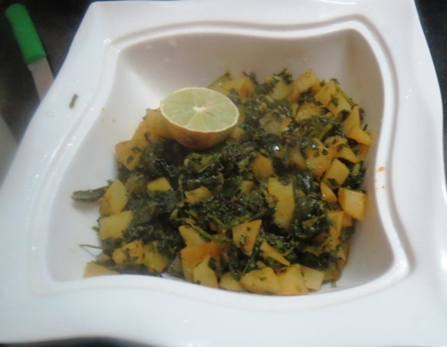 Methi Aloo Dry Curry